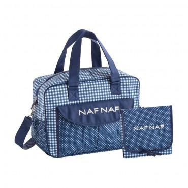 Bolso Maternal + Cambiador Nafnaf vichi azul