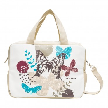 Bolso maternal+cambiaor Nafnaf Butterfly beige