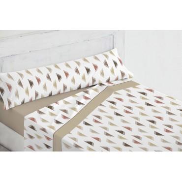 Juego de sábanas coralina Cinzia beige